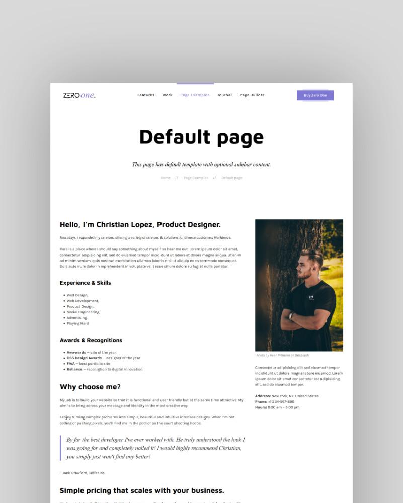 Default page